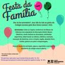 Festa da Família acontece neste sábado (18) no Colégio Americano