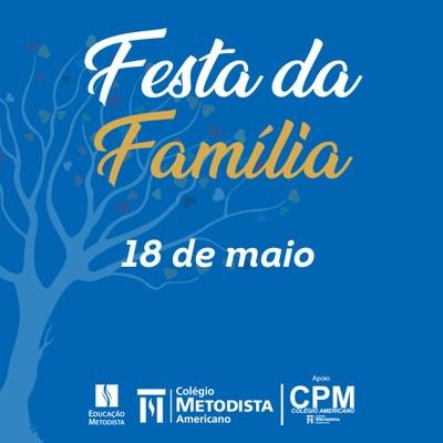 Festa da Família será realizada neste sábado, 18 de maio