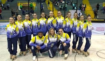Alunas conquistam medalha no Pan-americano de Patinação disputado na Colômbia