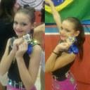 Alunas Maria Luísa e Carolina Leindecker são campeãs de patinação artística infantil
