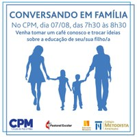 Colégio Americano promove café com famílias CPM