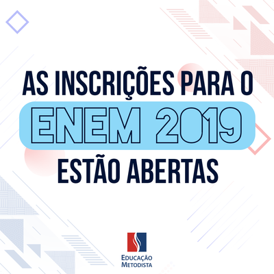 Enem 2019 recebe inscrições até 17 de maio