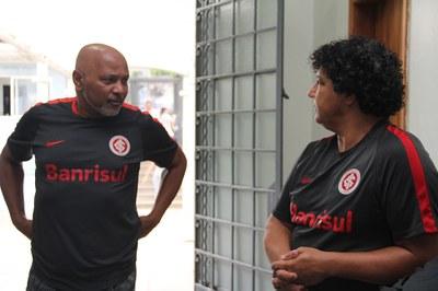 Ex-jogadores visitam alunos no Dia do Inter e Dia do Grêmio promovido pelo GERB