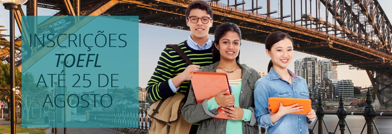 TOEFL está com inscrições abertas para estudantes do 9ºano do E.F. e 3ºano do Ensino Médio