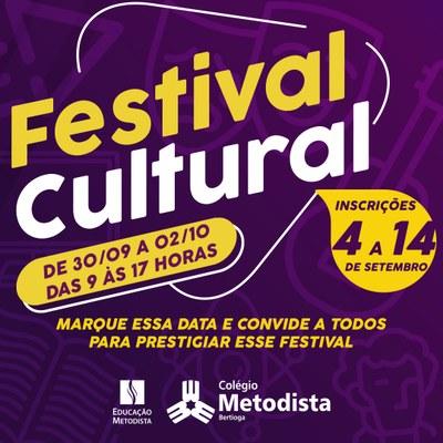 4º Festival Cultural terá edição on-line