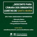 COLÉGIO CENTENÁRIO OFERECE 20% DE DESCONTO PARA ASSOCIADOS DO CDL