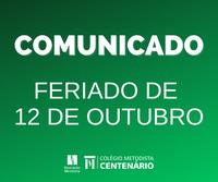 COMUNICADO – FERIADO