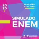 Estudantes do terceiro ano realizam simulado on-line preparatório para o Enem