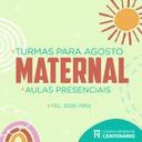 Maternal I e II do Colégio Centenário está com matrículas abertas