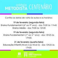 Colégio Centenário inicia ano letivo na próxima semana