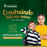Colégio Metodista Centenário abre matrículas para 2022