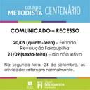 COMUNICADO: recesso no IMC