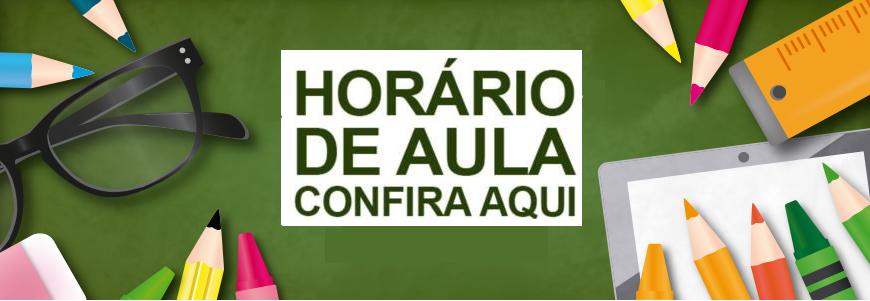 HORÁRIO DE SEGUNDA-FEIRA