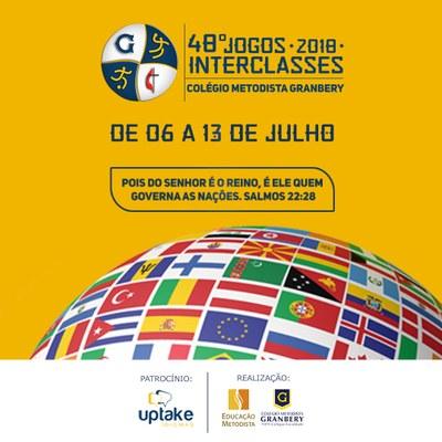 Jogos Interclasses 2018 serão realizados entre os dias 06 e 13 de julho