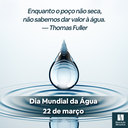 Dia Mundial da Água - 2021