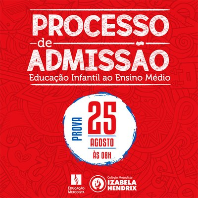 Colégio Izabela Hendrix recebe inscrições para o Processo de Admissão de Novos Alunos para 2019