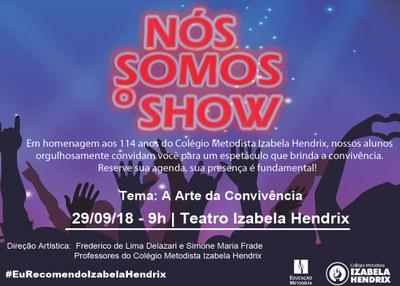 Izabela Hendrix promove show de talentos com alunos