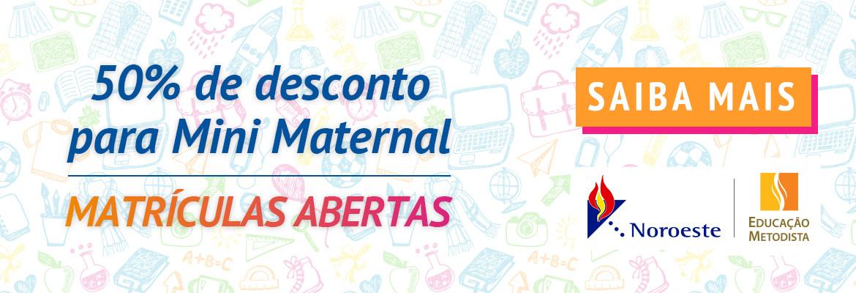 Banner - Mini maternal - Eu recomendo