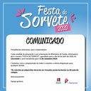 COMUNICADO -  Cancelamento festa do sorvete
