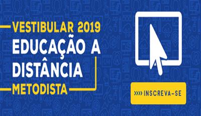 EDUCAÇÃO A DISTÂNCIA - INSCRIÇÕES GRATUITAS PARA O VESTIBULAR 2019