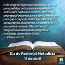 Dia do Pastor(a) Metodista - 2021