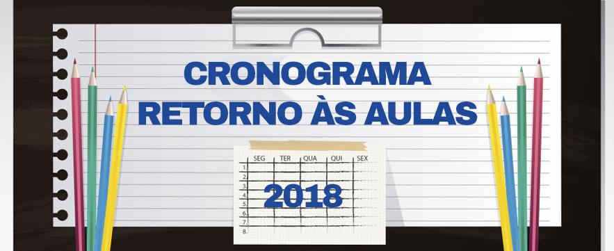 Cronograma - Início das Aulas - 2018