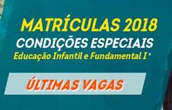Condições especiais de matrícula para Educação Infantil e 1º ano do Fundamental I