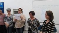 Professores e funcionários se despedem da dona Lúcia Furlan e desejam felicidades em nova etapa de vida