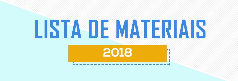 Lista de Materiais 2018