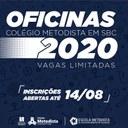Inscrições abertas para Oficinas Extracurriculares 2º semestre 2020