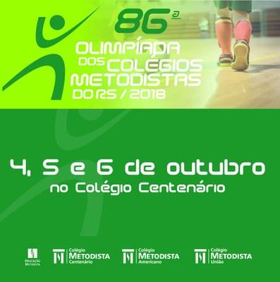 Colégio União participa da 86ª Olimpíada dos Colégios Metodistas do RS