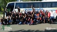 Delegação do União embarca para a 86ª Olimpíada dos Colégios Metodistas do RS e homenageia professor