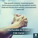 Dia Mundial da Oração - 2021